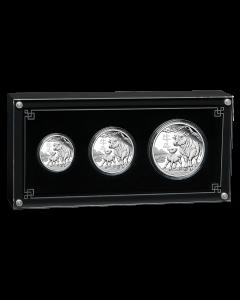 2021 澳洲农曆生肖系列 III - 牛年 .9999 精铸银币3枚套装