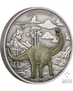 2021 纽埃恐龙-雷龙 .999古董银币 1盎司