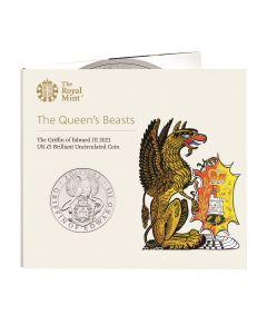 2021年 英女王的神兽—爱德华三世的狮鹫格里芬 铜镍硬币28.28克