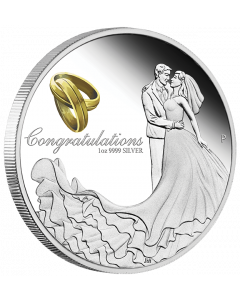 2021澳洲婚礼.9999精铸银币1盎司