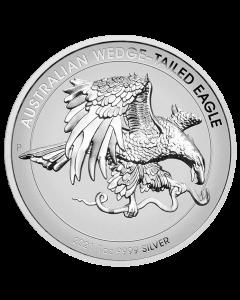 2021 澳洲楔尾鹰 .9999 反向高浮雕精铸银币1盎司
