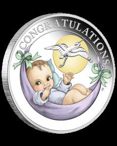 2021 澳洲新生婴儿.9999 精铸银币1/2盎司