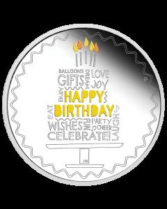 2021 澳洲生日快乐 .9999精铸彩色银币1盎司
