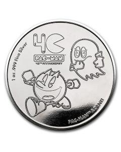 2020年纽埃 吃豆人40周年纪念币.999精铸银币 1盎司