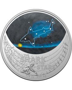 2021 澳洲星梦-星空中的鲨鱼.999彩色银币1/2盎司