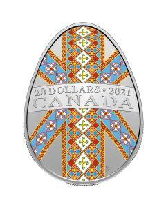 2021年1盎司加拿大 乌克兰复活节彩蛋 .9999银币