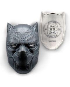 2021 斐济漫威黑豹面具 .999 仿古银币2盎司