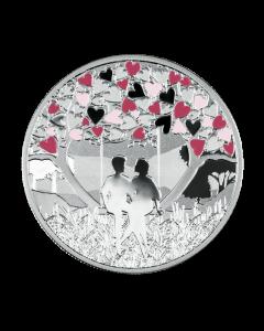 2020年 喀麦隆 爱的感受 精铸银币 17.5克