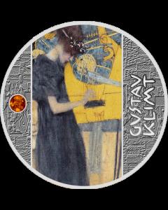 2020年纽埃 古斯塔夫·克里姆特-音乐 .999银币 17.5克