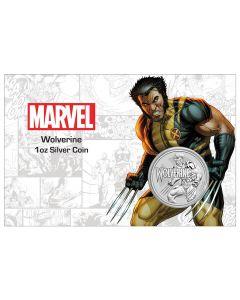 2021年图瓦卢漫威系列金刚狼 .9999普铸银币1盎司卡册