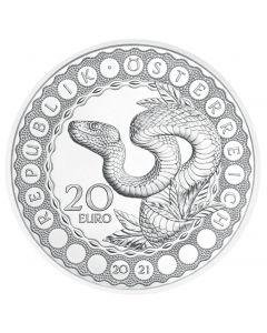 2021 奥地利世界之眼-彩虹蛇 .925精铸银币