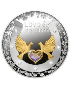 2021 纽埃爱情与幸福 .999精铸银币 17.5克