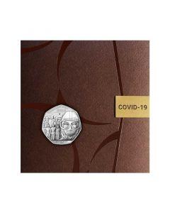 2020直布罗陀抗疫铜镍纪念币8克