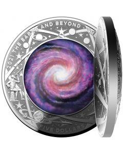 2021 澳洲 地球以外 - 银河拱形.999彩色精铸银币 1盎司