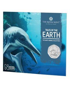 2021年 英国 玛丽·安宁收藏- 切齿鱼龙属铜镍币 8克