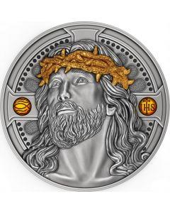 2021年 喀麦隆 基督救世主.999古董银币2盎司