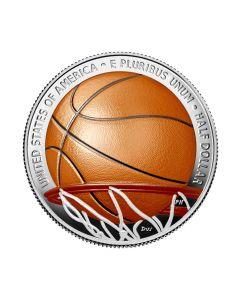 2020年 美国篮球名人纪念堂 铜镍币 11.34克