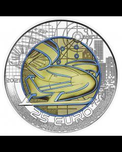 2021 奥地利铌银双金属智慧出行 .900纪念币16.5克